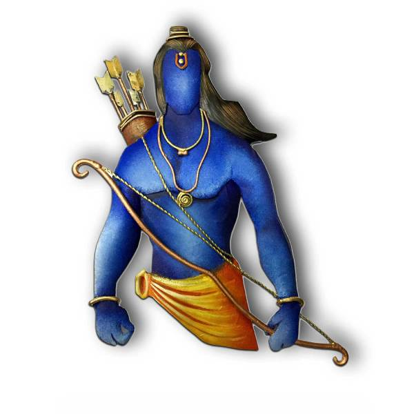 Lord Rama Wall Decor with Bow and Arrow