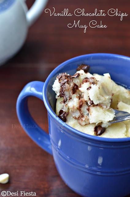 Gooey Vanilla Chocolate Chip Mug Cake In Pressure Cooker