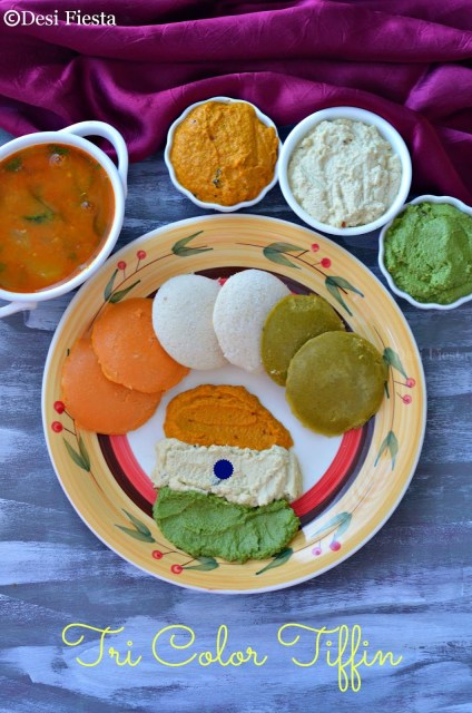 Indian flag color idli