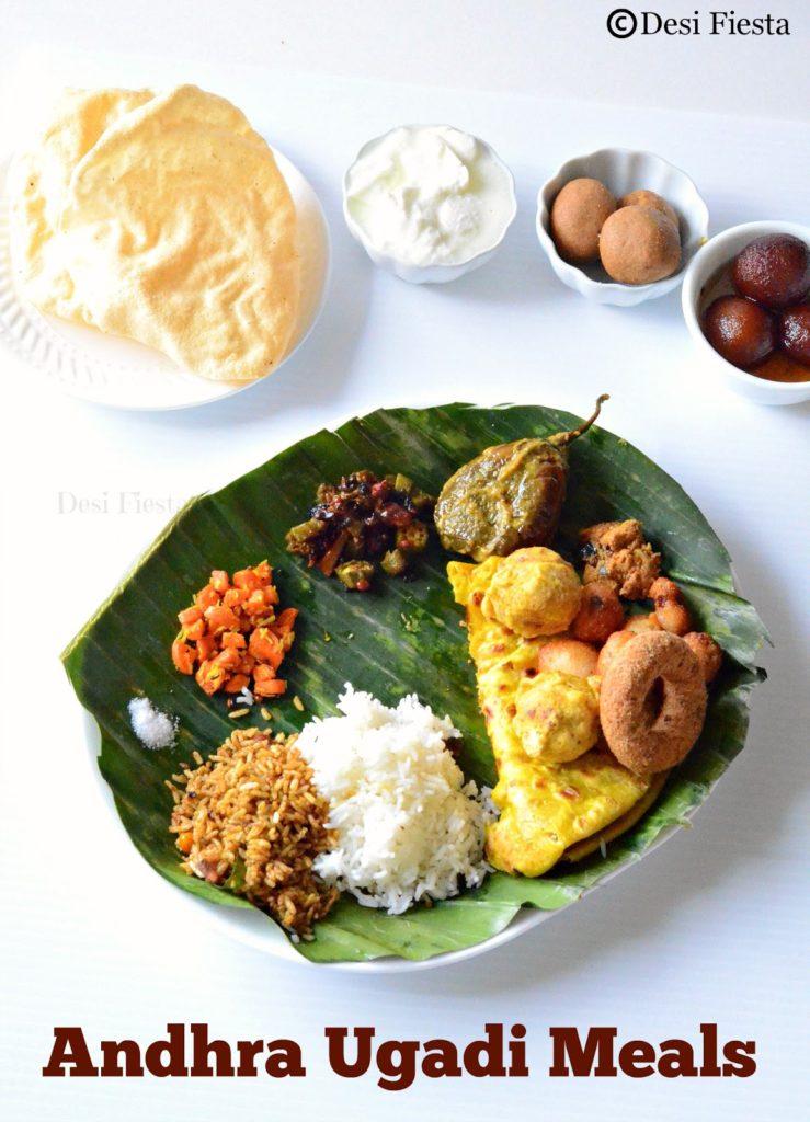 Ugadi meals recipes for Andhra cuisine vegetarian