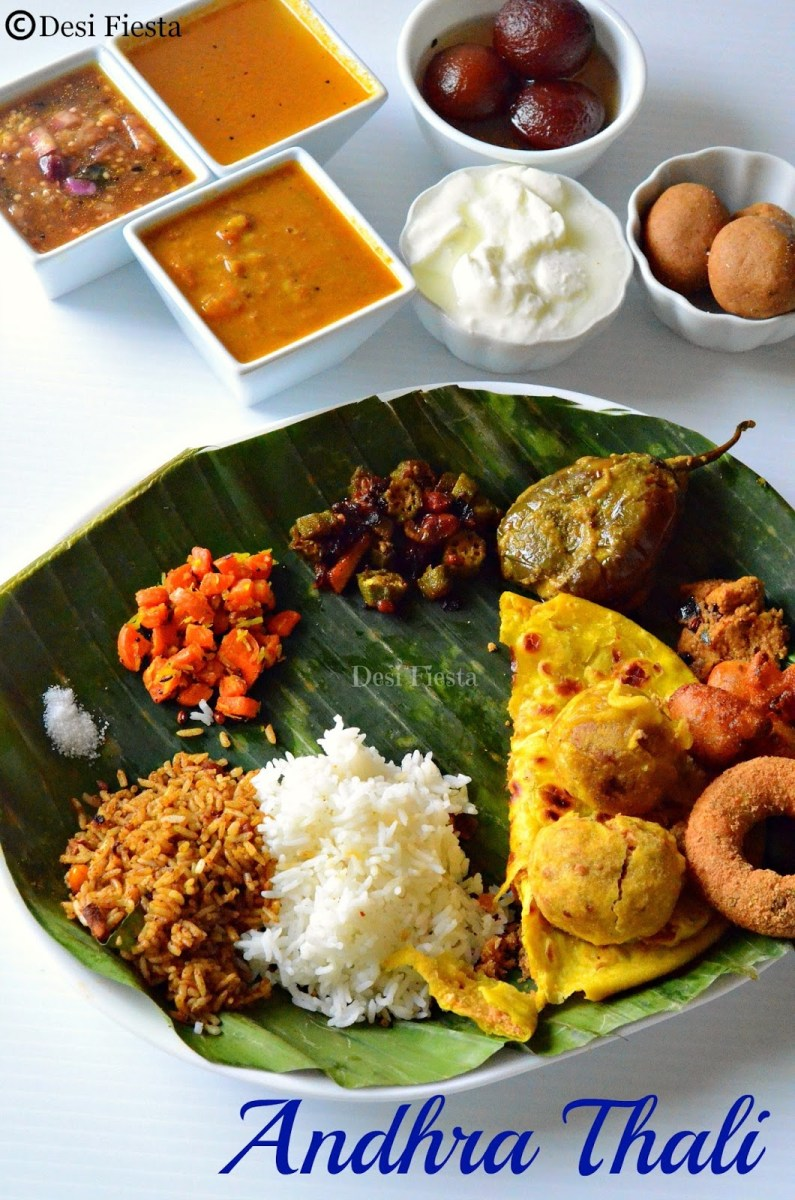 Andhra Pradesh Ugadi Meals | Adhra Pradesh Thali