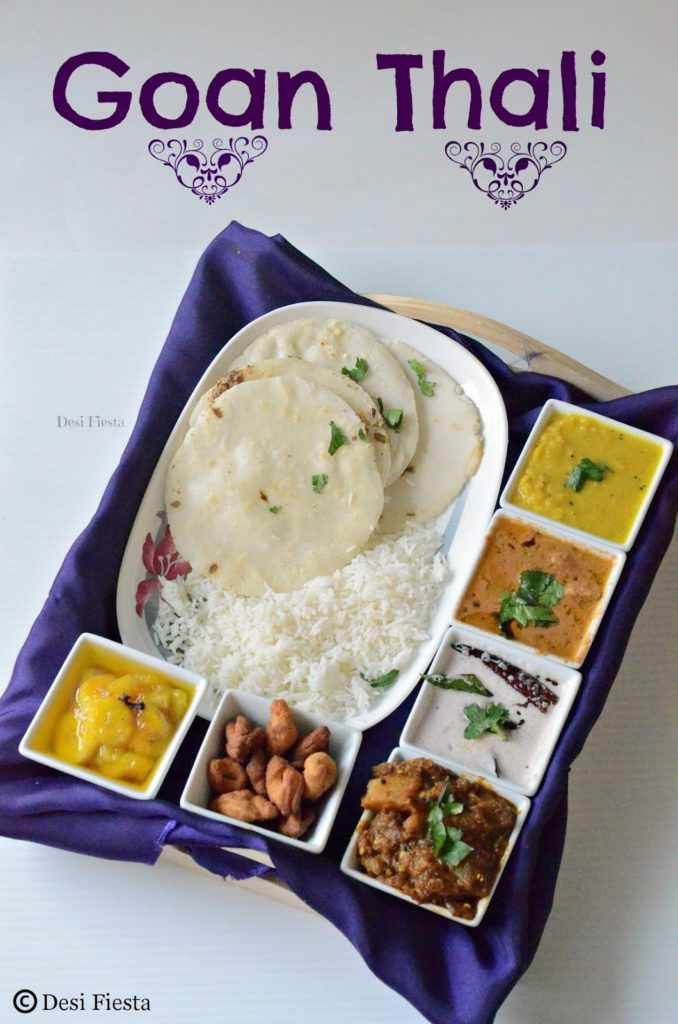 Goan thali a simple goan lunch menu desi fiesta goan cuisines recipes forumfinder Image collections