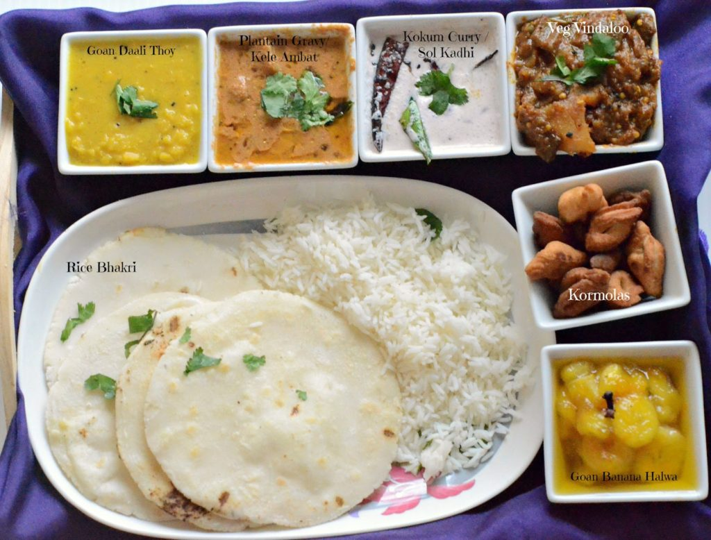 Goan thali a simple goan lunch menu desi fiesta goan thali menu forumfinder Image collections