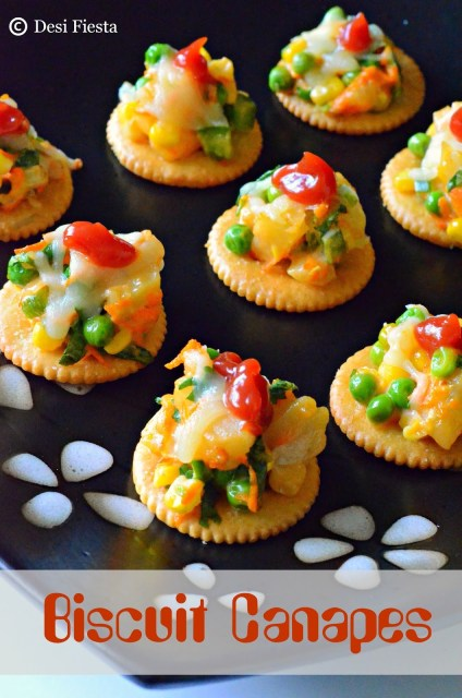 How to make biscuit canapes