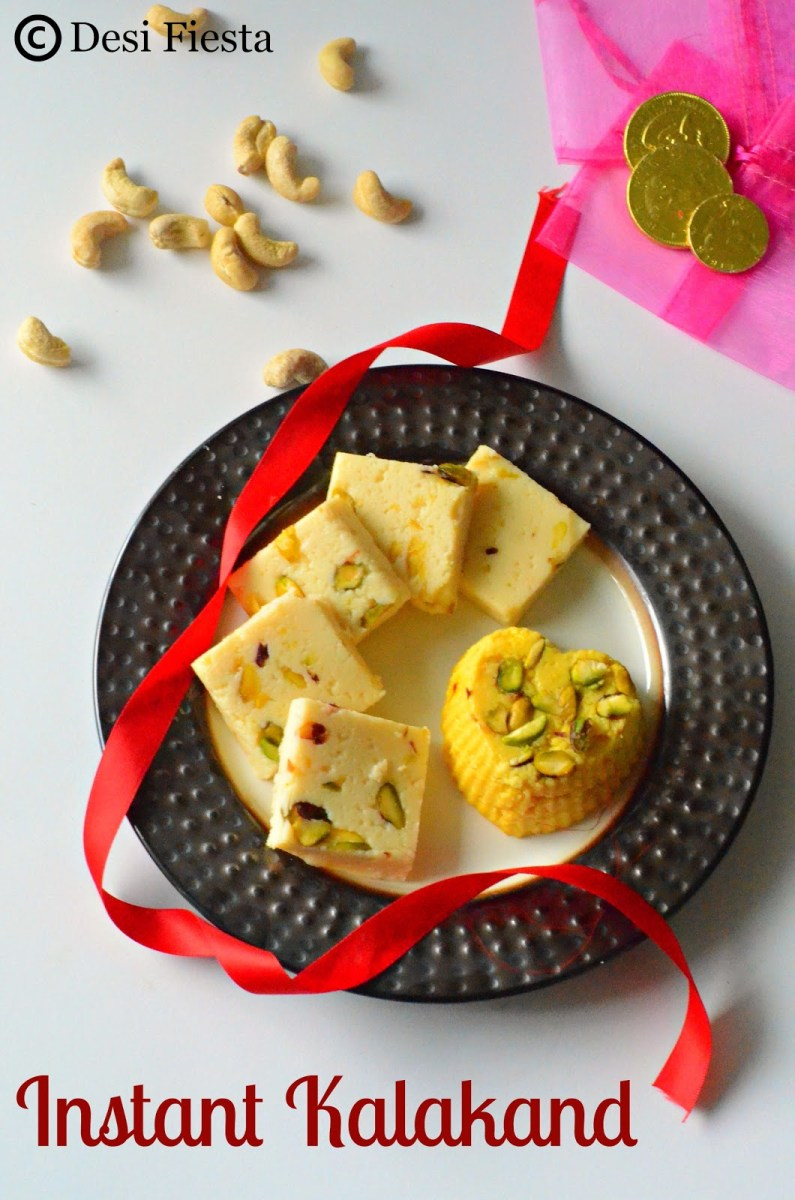 Instant Kalakand | Kalakand Recipe | Microwave Kalakand - Diwali Sweets