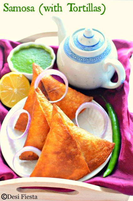 Tortilla samosa recipe