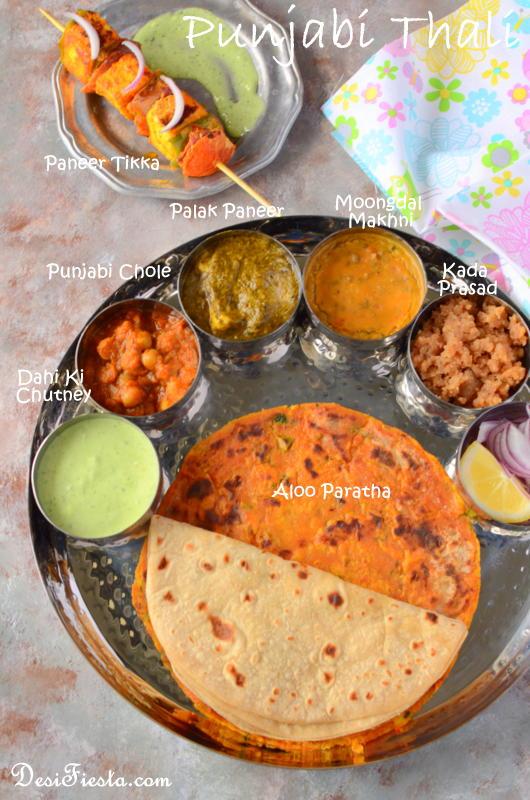 Punjabi thali punjabi chole recipe thali recipes desi fiesta punjabi thali punjabi chole recipe thali recipes forumfinder Images
