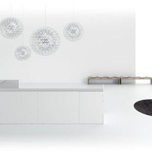 Art. REC03 - Reception modulabile a seconda delle esigenze. Disponibile in diverse finiture e dimensioni. (DVO)
