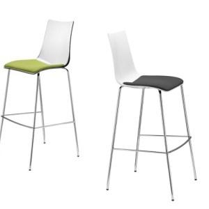 Art.SG08 - Sgabello con seduta imbottita, e struttura metallica. Disponibile in altre finiture (SCAB)