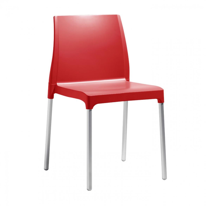Art.SE06 - Sedia in policarbonato, struttura in acciaio. Disponibile in diverse finiture (SCAB)