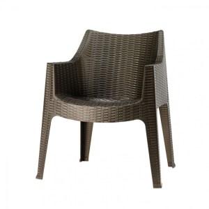 Art.SE07 - Sedia in tecnopolimero intrecciata. Disponibile anche  in bianco. (SCAB)