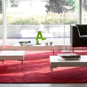Art.TV14 - Tavolino basso d'attesa colore bianco. (VAGHI)