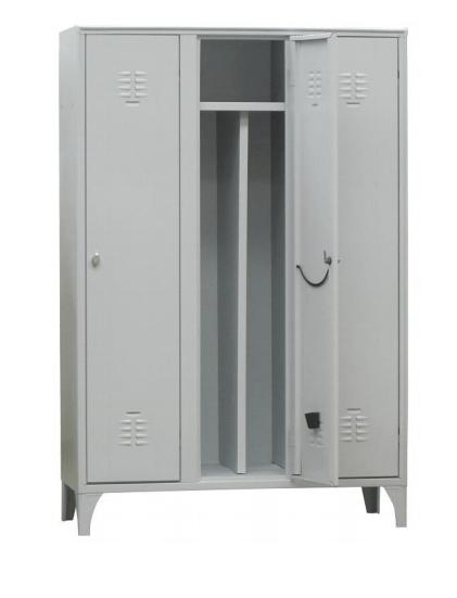 Art.AS02 - Armadio spogliatoio con tramezza, disponibile in diverse dimensioni.