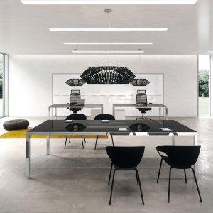 Art. TAR03 - Tavolo riunioni in vetro, disponibile in diverse finiture e dimensioni (DVO)