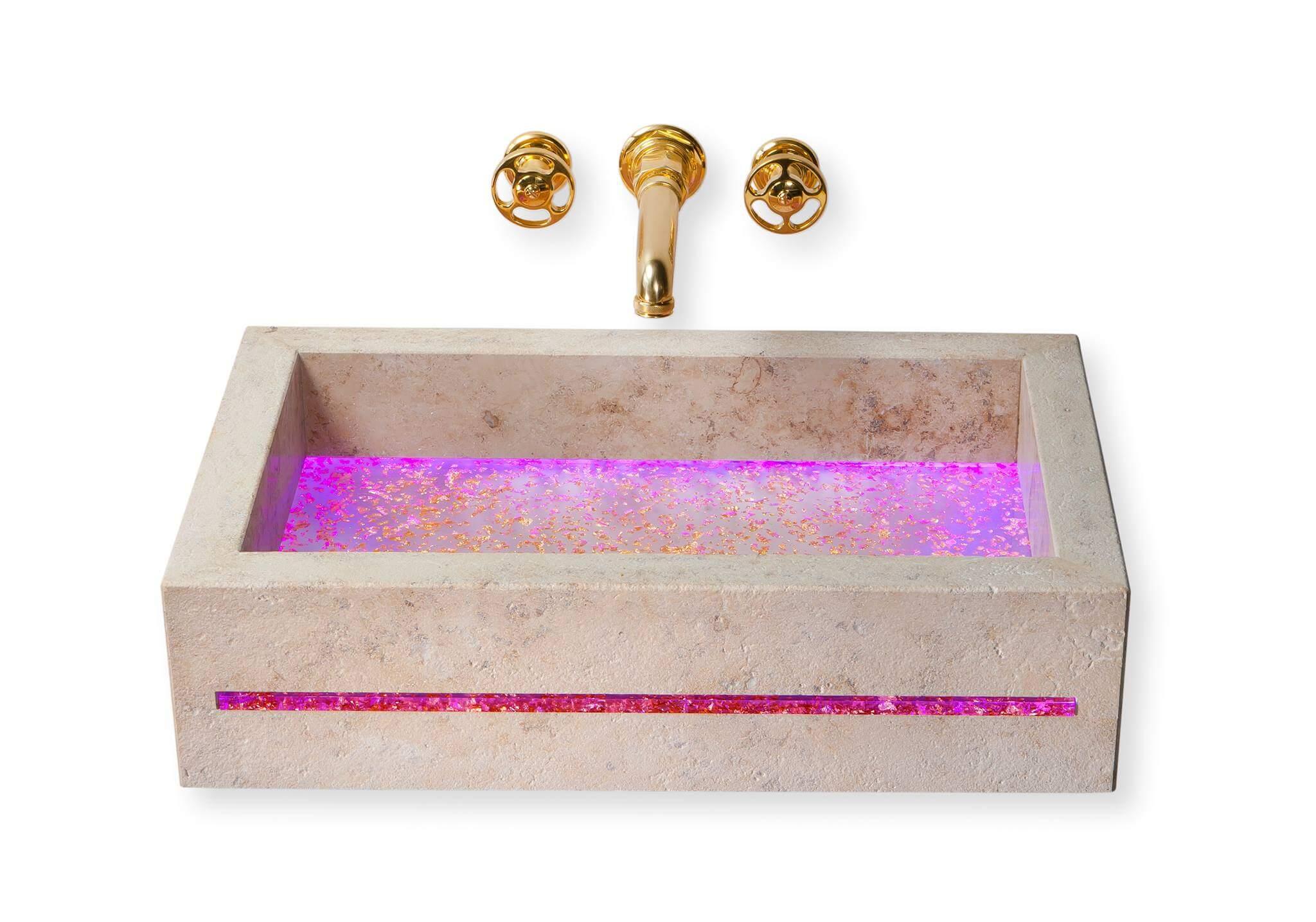 Badezimmer Holz Modern On Mit Waschtisch Aus Unbehandelt