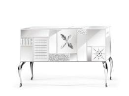 GOOD MOOD 7000 White 3-Door Sideboard-Credenza-Buffet by Leonardo de Carlo ('Riflessivo' Series, 2010) from ARTE VENEZIANA (Copyright: © Leonardo de Carlo, ARTE VENEZIANA)