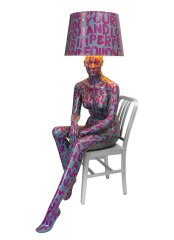 PURPLE LETTERS Mannequin Floor Lamp by Jimmie Karlsson & Martin Nihlmar from JIMMIE MARTIN (Copyright: © JIMMIE MARTIN, Jimmie Karlsson, Martin Nihlmar)
