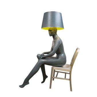 SITTING LADY GREY Floor Lamp by Jimmie Karlsson & Martin Nihlmar from JIMMIE MARTIN (Copyright: © JIMMIE MARTIN, Jimmie Karlsson, Martin Nihlmar)