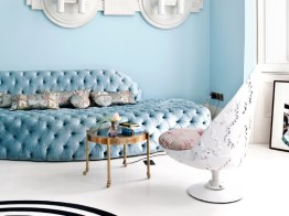 Sofa by Danielle Moudaber - White Armchair & Side Table by Jean-Francois Buisson (photo by Sunna & Marc van Praag)