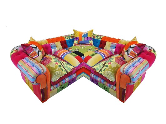 CORNER CHESTERFIELD Sofa by Lisa Whatmough from SQUINT LIMITED (Copyright: © Lisa Whatmough, SQUINT LIMITED)