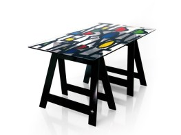 GRAFFY Home Office Desk-Dining Table by Jean-Charles de Castelbajac from ACRILA (Copyright: © Jean-Charles de Castelbajac, ACRILA)