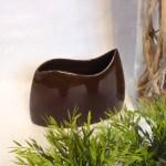 Schale Keramik braun