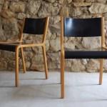 Alte Vintage Holzstuhle Im Mid Century Stil Von Wilkhahn 1960 1 V 20 Design Ikonen
