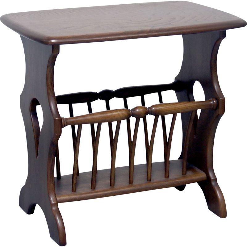 vintage ercol chaucer magazine rack side table 1980s
