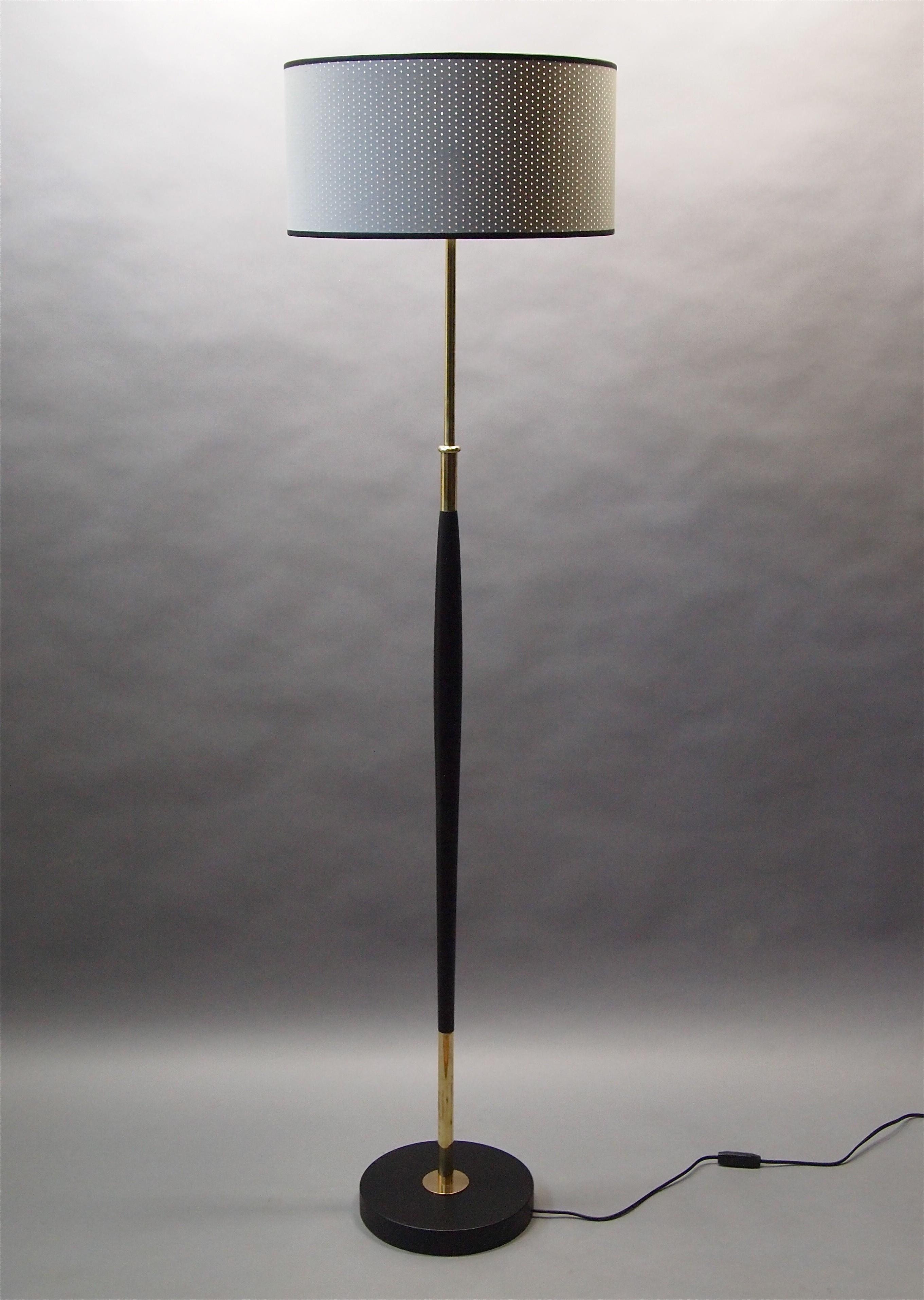 Mid Century Floor Lamp By Maison Lunel 1950s