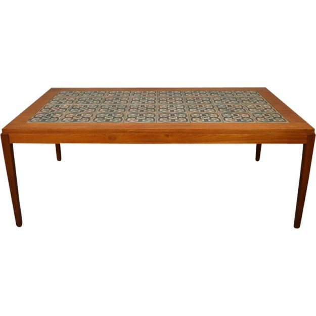 vintage danish teak tile top coffee tablehaslev & royal