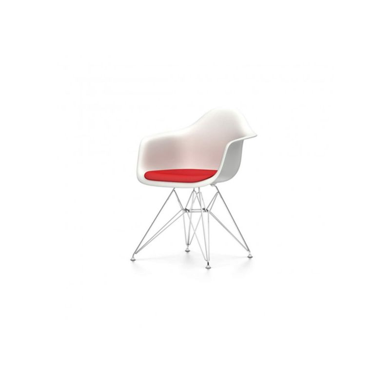We specialise in buying, selling and restoring vitra eames chairs and tables. Plastic Armchair Dar With Seat Pad By Charles And Ray Eames For Vitra Design Market