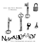 Lock & Keys Brushes by: neverhurtno1