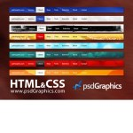PSD web navigation, HTML and CSS menus