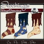 CU Christmas Stockings by: Scrap Obsessions