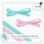 Bow & Ribbon Action by: Delicious Scraps