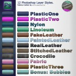 12 Photoshop Layer Styles: fab