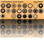 Free Photoshop Custom Shapes Circles
