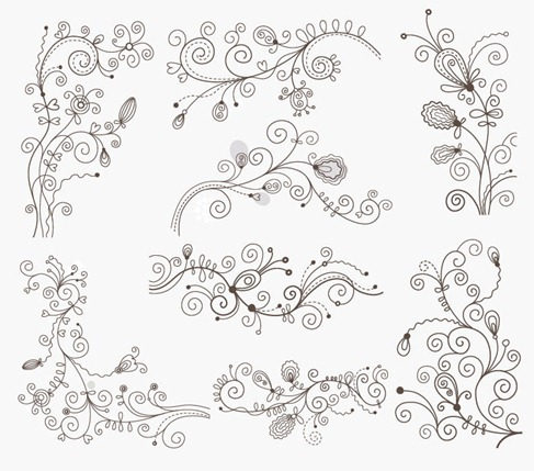 swirl_floral_doodle_elements_vector