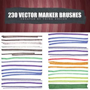 Free Marker Illustrator Brushes | Design Share