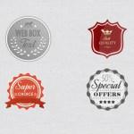 Free Vintage Retro Badges PSD