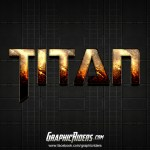 Free Sci-Fi Style Photoshop Text Effect – Titan