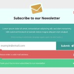 Newsletter Subscription PSD