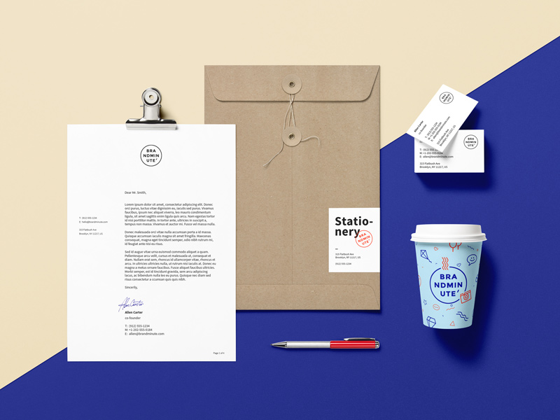 Business Stationery Design Mockup