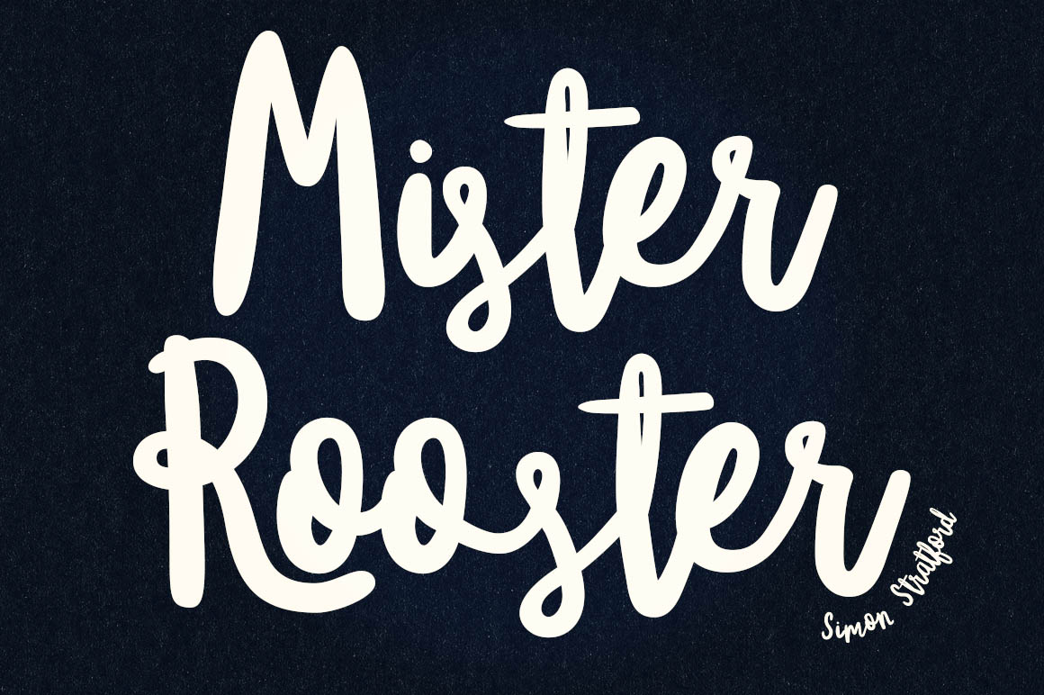 Awesome New Brush Script Font - Mister Rooster