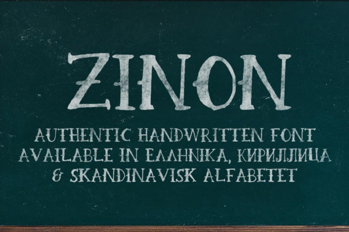 Zinon Hand Drawn Serif Font
