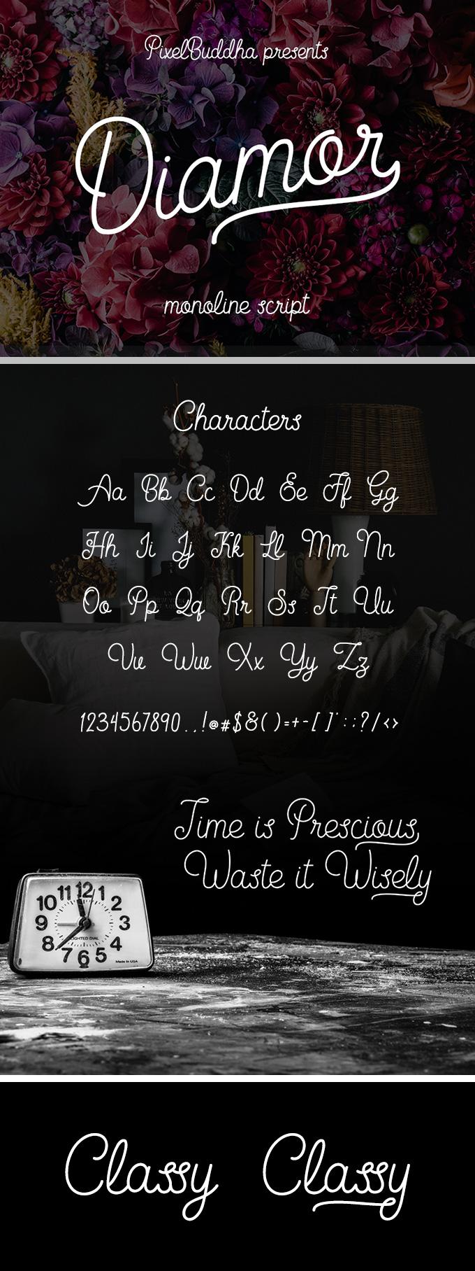 Beautiful Script Font for Graphic Design Lettering