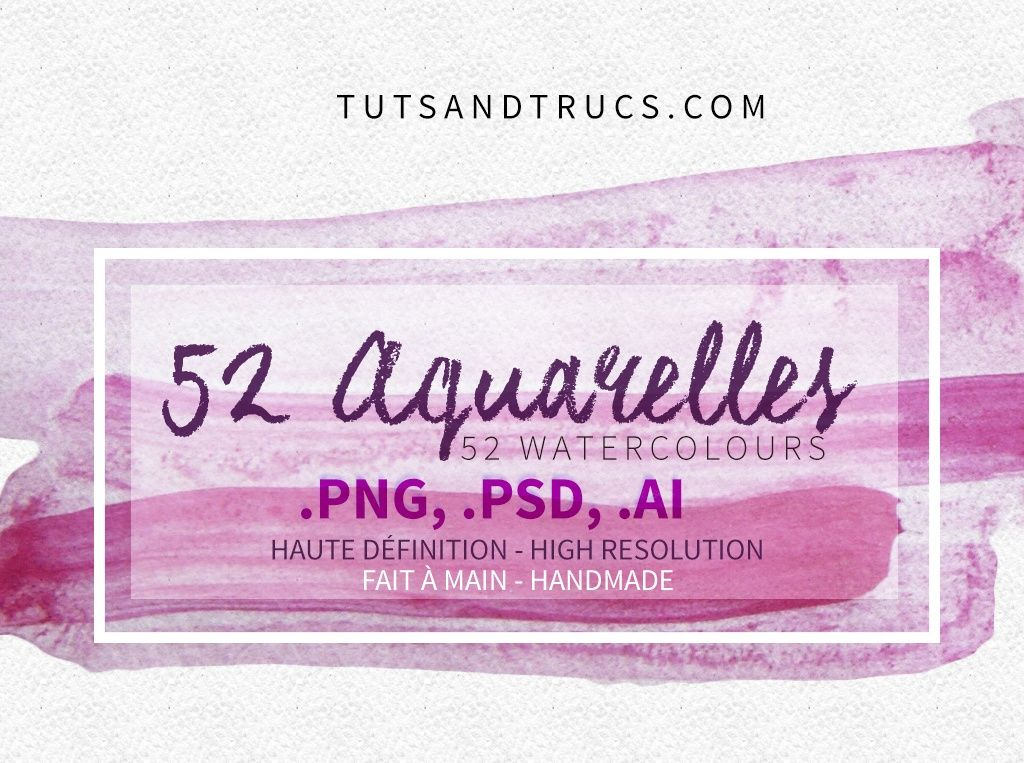 52 Awesome Watercolor Textures