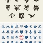 Vintage Woodcut Animals Vector Bundle