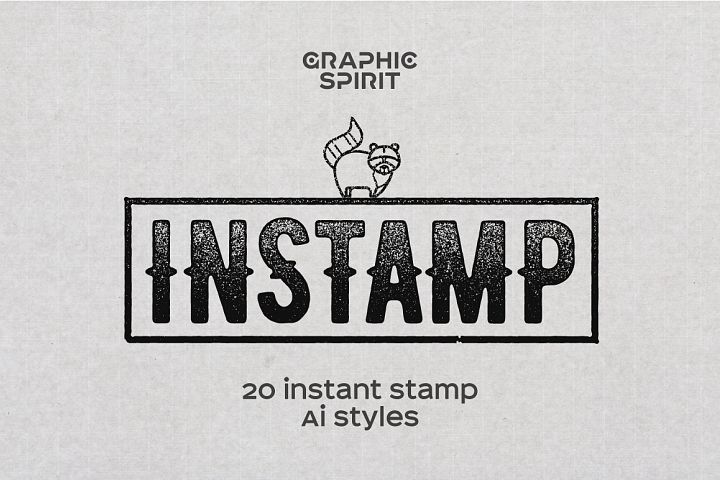 Instastamp Styles for Adobe Illustrator