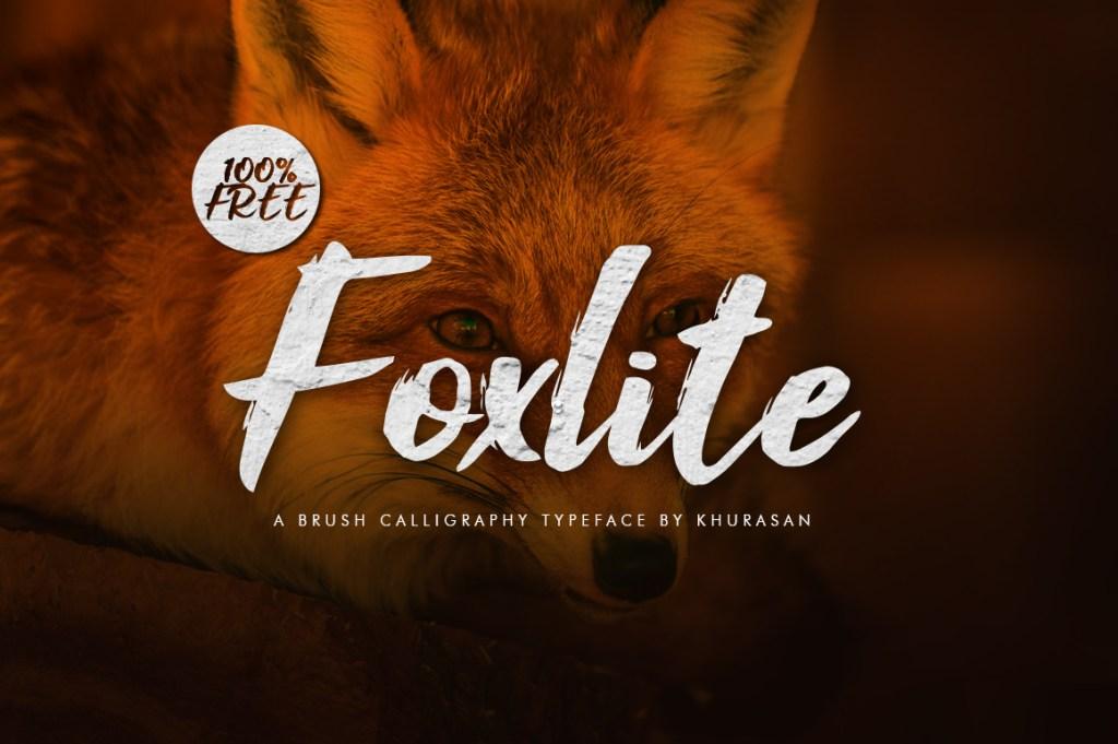 Free Brush Script Font | Foxlite | Design Share